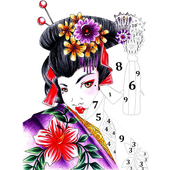 Japenese Color by Number - Adult Coloring Book 图标