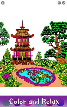 Japenese Color by Number - Adult Coloring Book 截图 1