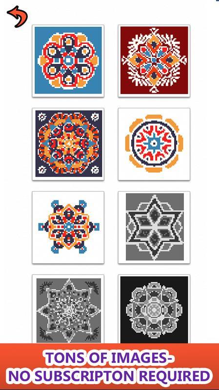 Mandala Color by Number Sandbox