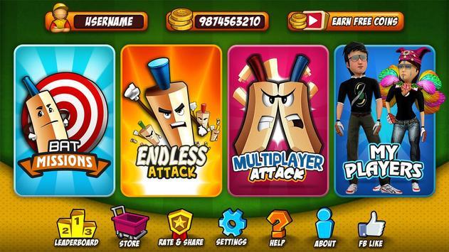 Bat Attack Cricket Multiplayer apk screenshot