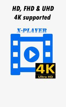 Videos X-Player Ultra HD 4K poster