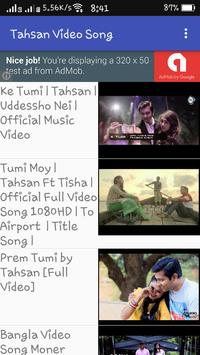 Tahsan Video Song apk screenshot