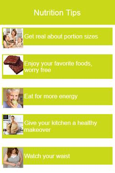 Nutrition Tips poster