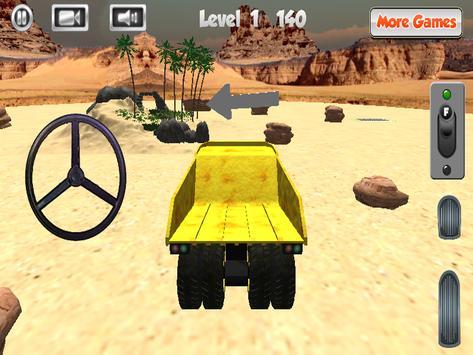 Mining Truck Parking 3D poster