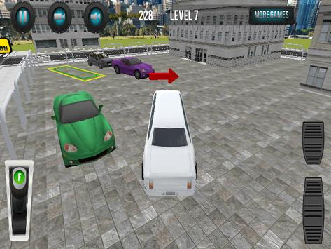 Limousine Car Parking 3D screenshot 7