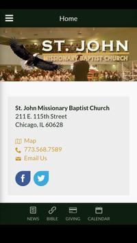 St. John MB Church poster