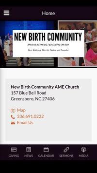 New Birth Community AME Church poster