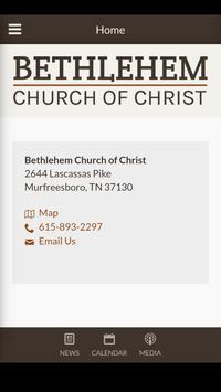 Bethlehem Church of Christ الملصق
