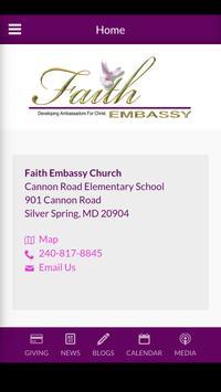 Faith Embassy Church poster