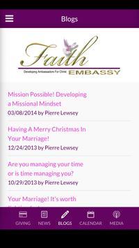 Faith Embassy Church apk screenshot