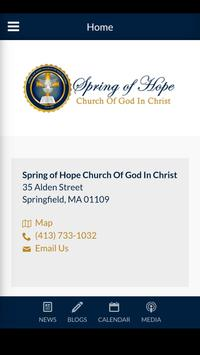Spring of Hope COGIC poster