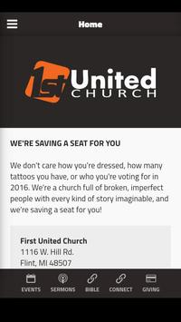 First United Church poster