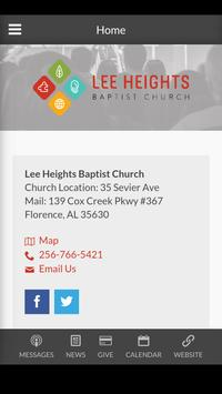 Lee Heights Baptist Church poster