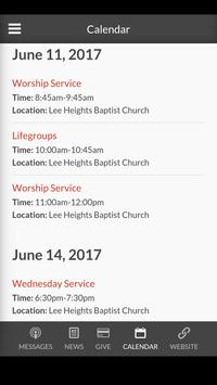 Lee Heights Baptist Church screenshot 3