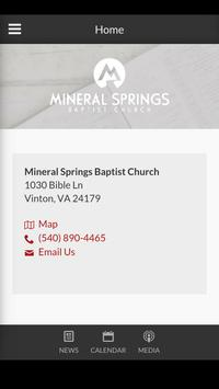 Mineral Springs Church poster