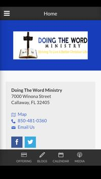 Doing The Word Ministry - Callaway, FL poster
