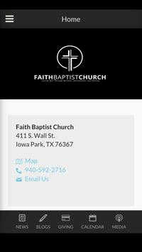 Faith Baptist Church Iowa Park poster