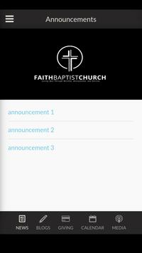 Faith Baptist Church Iowa Park apk screenshot