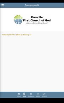 Danville First Church of God - Danville, KY apk screenshot