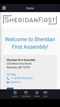 Sheridan First Assembly poster