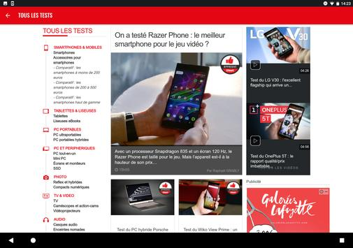 01net.com : actus, tests et vidéos high-tech screenshot 7