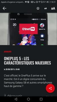 01net.com : actus, tests et vidéos high-tech apk screenshot