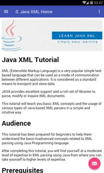 Learn Java XML apk screenshot