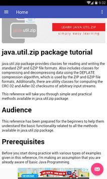 Learn Java Zip apk screenshot