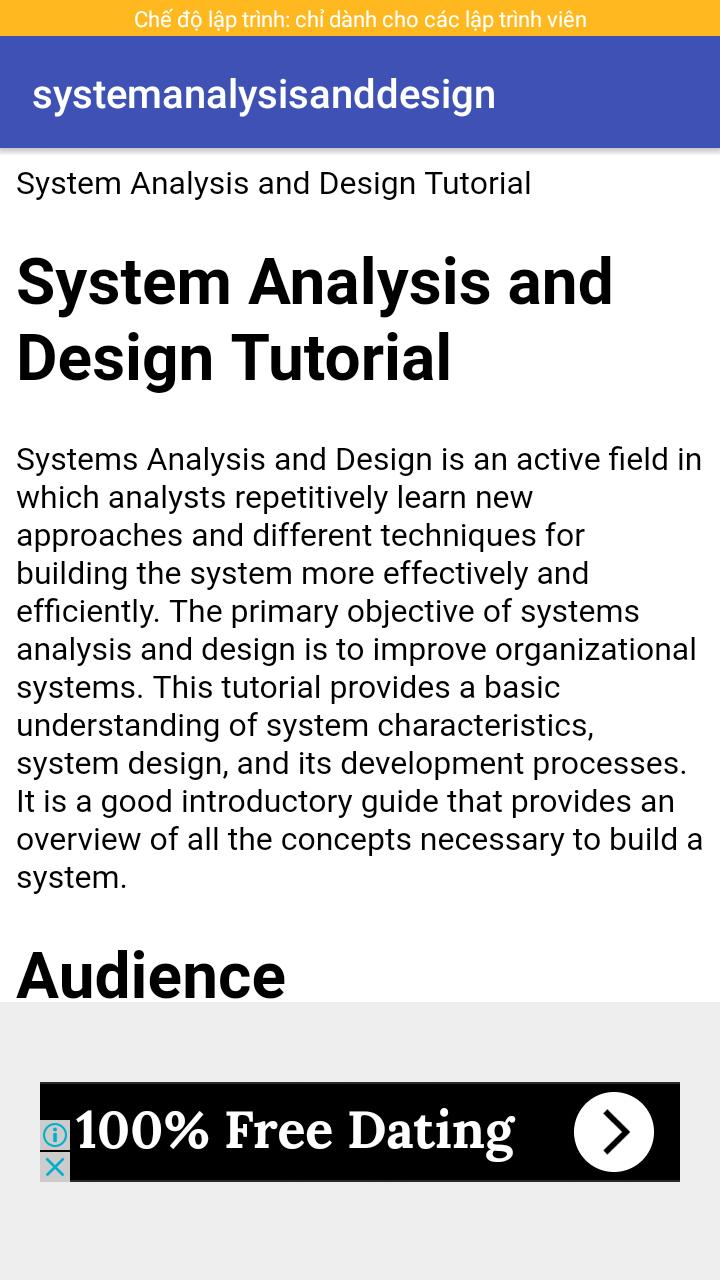 System Analysis And Design For Android Apk Download
