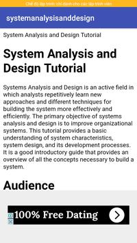 system analysis and design poster
