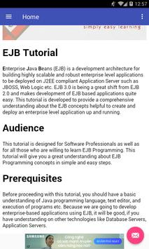 Learn EJB poster
