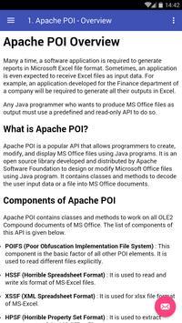 Learn Apache POI poster