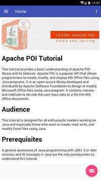 Learn Apache POI screenshot 1