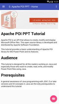 Learn Apache POI (Powerpoint) apk screenshot