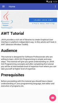 Learn AWT apk screenshot