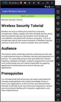 Learn Wireless Security screenshot 2