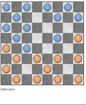 Checkers Solitaire screenshot 1