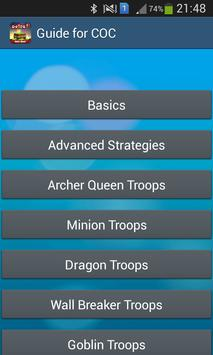 Guide For Clash Of Clans-Tips poster