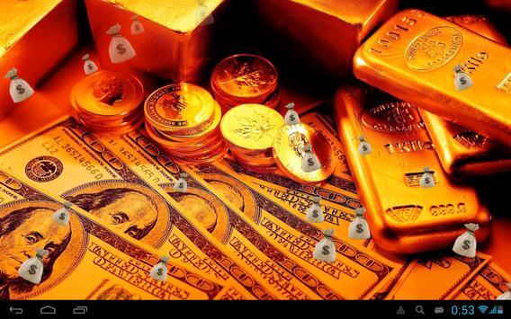 Money and gold Live wallpaper apk screenshot