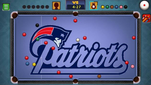 Billiards New England Patriots theme poster