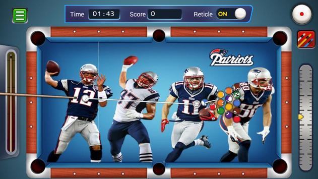 Billiards New England Patriots theme screenshot 1