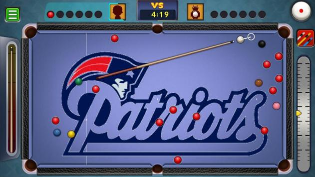 Billiards New England Patriots theme screenshot 2