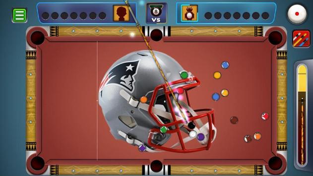 Billiards New England Patriots theme screenshot 3