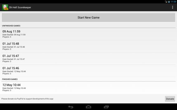 Oh Hell Scorekeeper Free screenshot 5