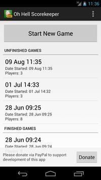 Oh Hell Scorekeeper Free screenshot 2