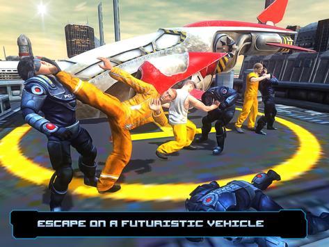 Flying Car Prison Escape apk screenshot