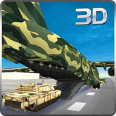 Army Cargo Plane Airport 3D icon