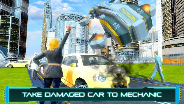 Tourist Futuristic Flying Car poster