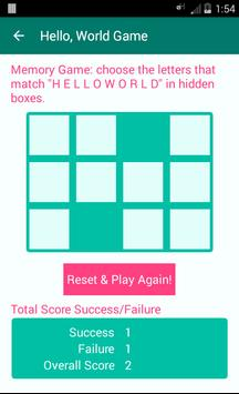 Hello, World Game apk screenshot
