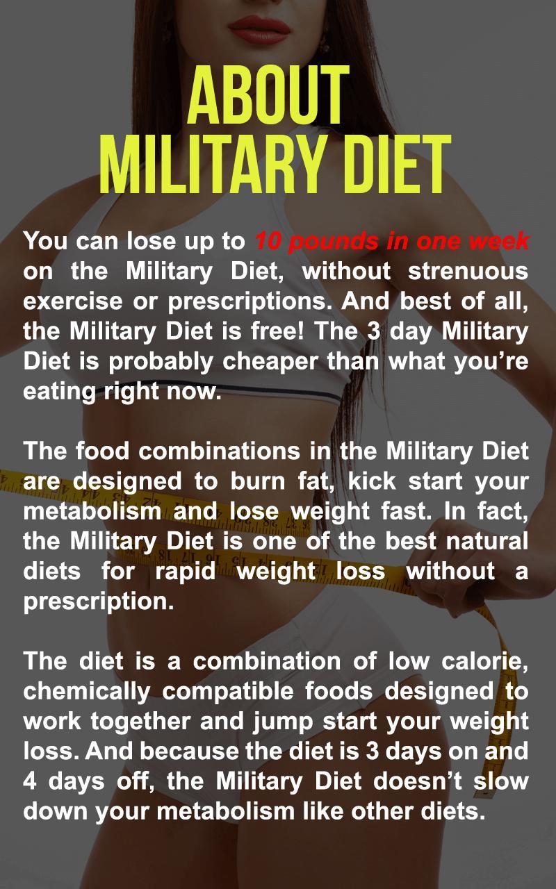 4 Day Diet Plans: Super Military Diet : 3 Day Diet Weightloss Plan For